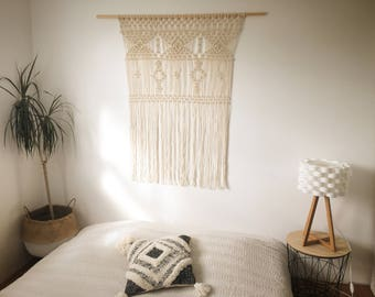 Modern and original macrame headboard
