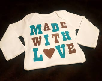 Made With Love, Super Cute and Makes a Great Baby Shower Gift...Comes In Multitude of Colors