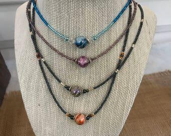 Acrylic Bead Necklaces