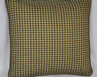 Square Accent Pillows - Houndstooth Decorative Pillows