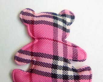 40x48mm pink bears fabric applique