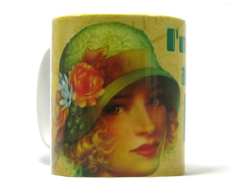 Gin and Tonic Mug, Art Deco Style Mug, Gin Lovers Gift