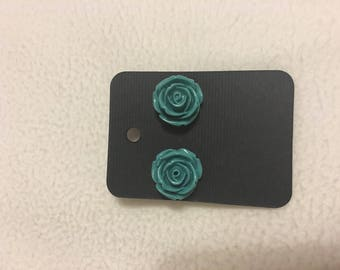 Small rose stud earring