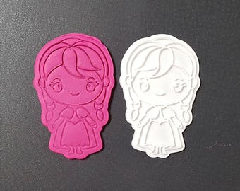 Anna  from Frozen Cookie Cutter and Stamp