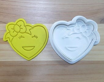 Big Smile Heart Cookie Cutter and Stamp