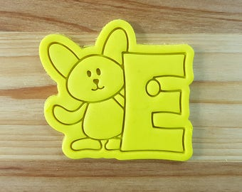 Bunny E Cookie Cutter and Stamp