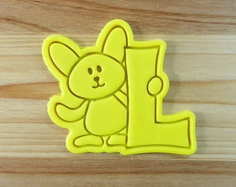 Bunny L Cookie Cutter and Stamp