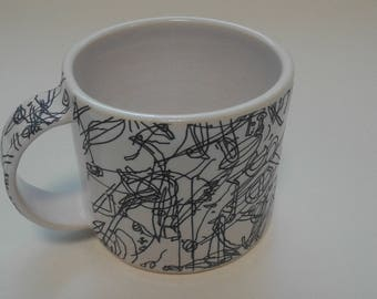 Ceramic mug by Gosia Wlodarczak in collaboration with Maria Lieberman