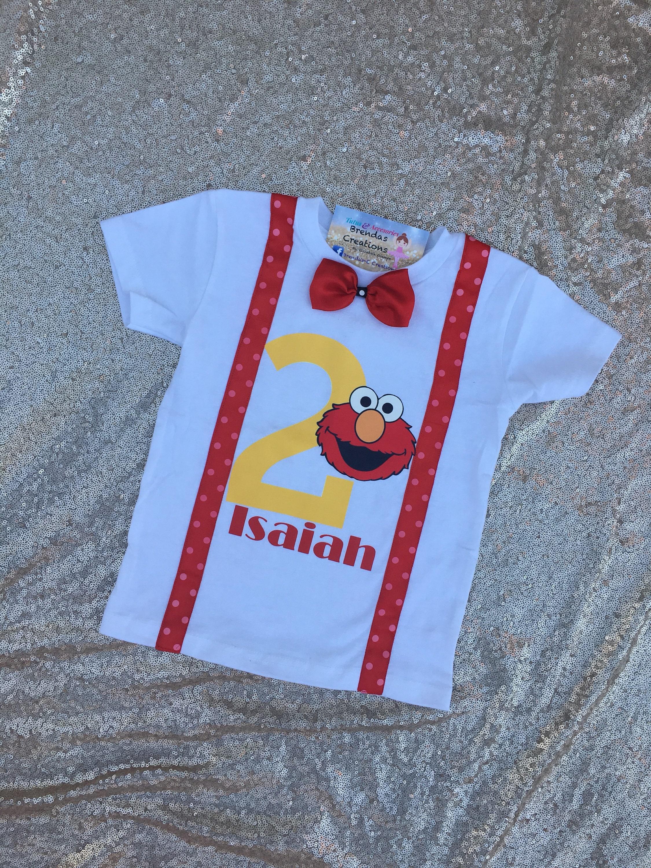 Customized Elmo Birthday Shirts