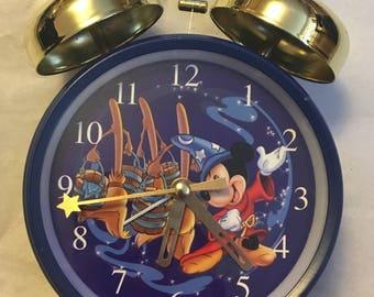 Vintage Disney Mickey Mouse Alarm Clock