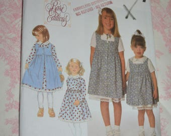 Simplicity 7634 Toddlers and Childs Dress and Pinafore Sewing Pattern UNCUT Size 3 4 5 6