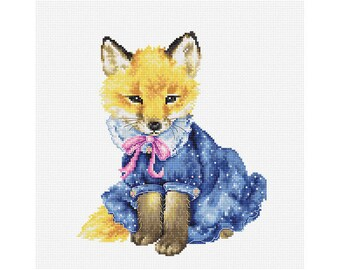 Fox Counted Cross Stitch kit Luca-S