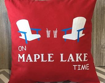 Lake Pillow, Cabin Pillow, Lumbar Pillow, Throw Pillow