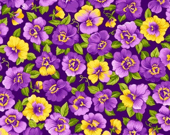 Purple Passion - 4105-61352-30 Purple Packed Floral - from Exclusively Quilters