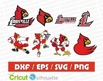 Louisville Cardinals Svg Dxf Eps Png Cut File Pack