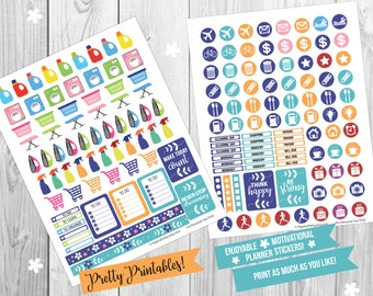 PRINTABLE Planner Calendar Stickers Inspirational - Print your own stickers