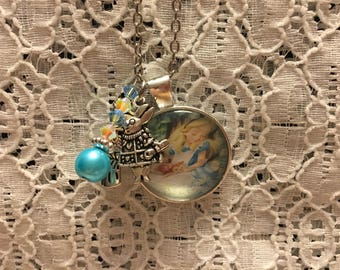 Alice in Wonderland Charm Necklace/Alice in Wonderland Jewelry/Alice in Wonderland Pendant/Alice in Wonderland Necklace/Alice Jewelry