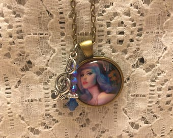 Katy Perry Charm Necklace/Katy Perry Jewelry/Katy Perry Fan/Katy Perry/Katy Perry Necklace/Katy Perry Pendant