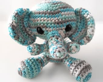Crochet Stuffed Plush Elephant Toy