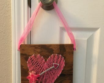 Heart with arrow string art