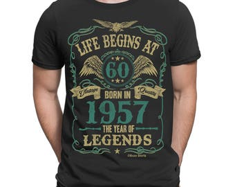 Life Begins At 60 Mens T-Shirt