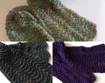 Lace-knit Fashion Scarf
