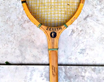Vintage Wooden Tennis Raquet....Zenith? I thought they made electronics, Think again folks.