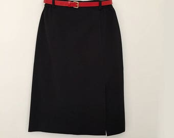 Vintage hight waisted skirt /  midi skirt / size M /  made in France