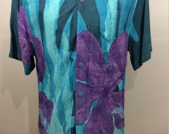 Rare jams world hawaiian vacation shirt size small E5