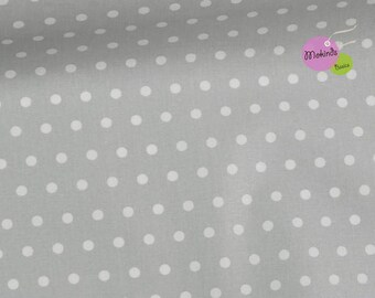 Oilcloth points grey coated cotton