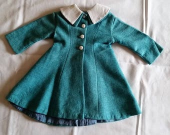 Adorable Vintage Baby or Doll Coat~Fully Lined w/Peter Pan Collar