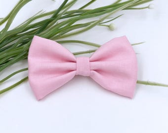 Baby Girl Bow Headband - Nylon Headbands - Hair clip - Infant / Toddler /  Hair Bows / Clips - light pink