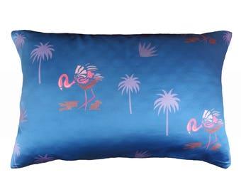 Silk face Miami Flamingo Luxury Mulberry Silk beauty Pillowcase