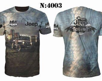 New ultramodern 3D  High Quality Jeep 4x4   Men's T-shirt