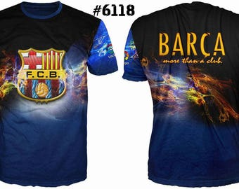 New ultramodern 3D  High Quality  Print Fans  short Sleeve t-shirt Barca