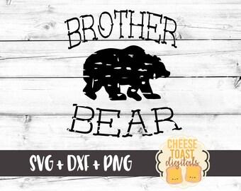 Brother Bear SVG, Grunge Svg, Brother Svg, Sister Bear Svg, Mama Bear Svg, Bear Svg, Svg Files, Svg for Cricut, Svg for Silhouette, Cut File
