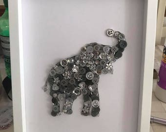 Elephant Button Frame