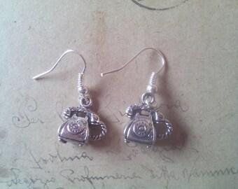Phone earrings ~ silver ~