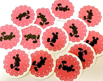 13 Mouse themed silhouette die cut embellishments