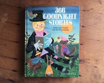 366 Goodnight Stories - A Golden Book - 1960's - Vintage Children's Book - Bedtime Stories - 365 Days Gifts - Bedtime Story Book