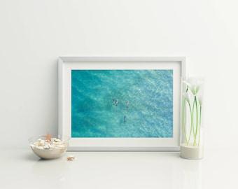 Digital beach photo // Beach Aerial Photo / Coastal wall art // Beach Decor // Drone Photo // Ocean Photo // Photography //animal Print