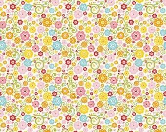 Riley Blake Happy Day - Happy Floral by Lori Whitlock - Sold by the Yard