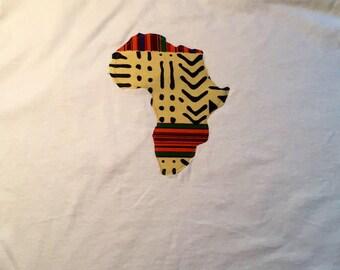 White Kente Africa T-shirt