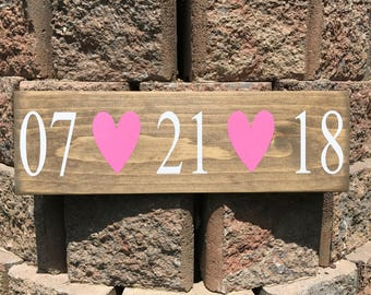 Save The Date / Wedding Date Sign / Engagement Photo Prop / Custom Wedding / Bridal Shower Gift