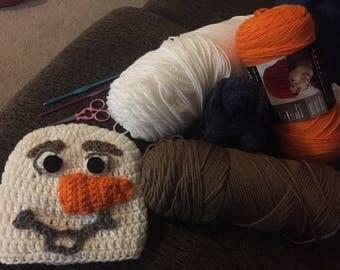 Olaf Crochet Cap