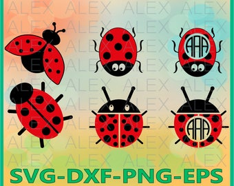 70% OFF, Ladybug Svg,  Ladybug Frame Svg File,  Ladybug Monogram Frames,  Ladybug clip art,  Ladybug Svg Cut Files, svg, dxf, ai, eps, png