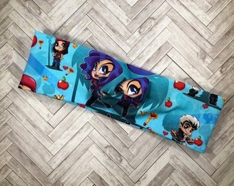 Disney Descendants turban headband, run Disney , yoga headband , women's headbands , kids headbands
