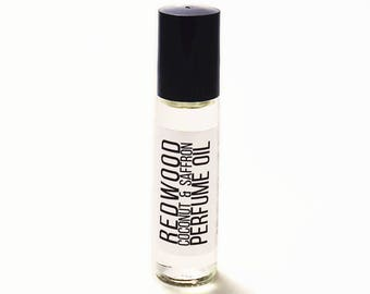 Redwood, Coconut, & Saffron Perfume Oil - Fragrance Oil - Roll On Perfume - Roller Ball - Travel Size - Vegan Perfume - Gift for Her