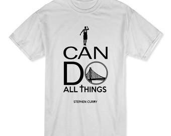 Steph Curry warriors basketball christian T! #30