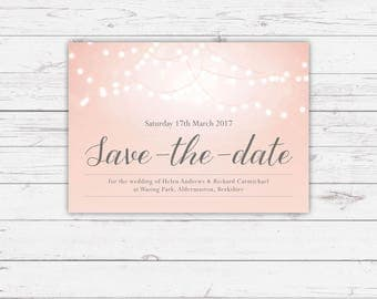 Save the Date Cards - Nightglow design, personalised and customisable
